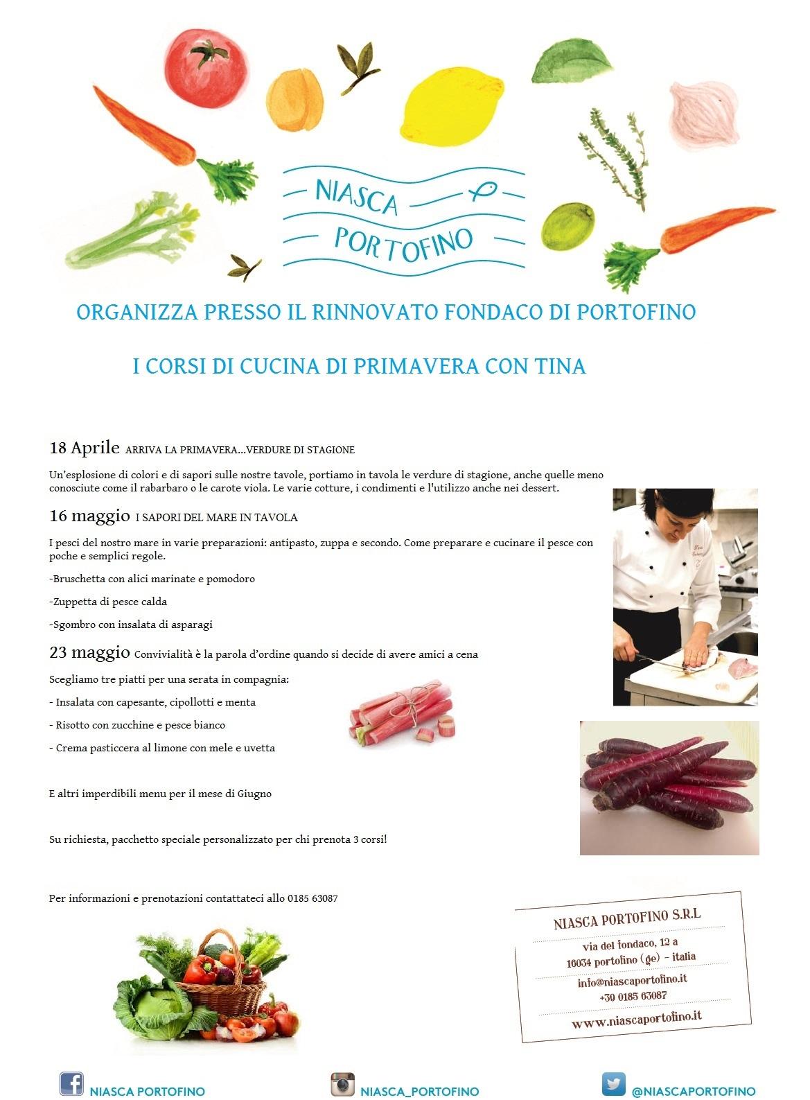 Corsi Di Cucina Con Tina Niasca Portofino